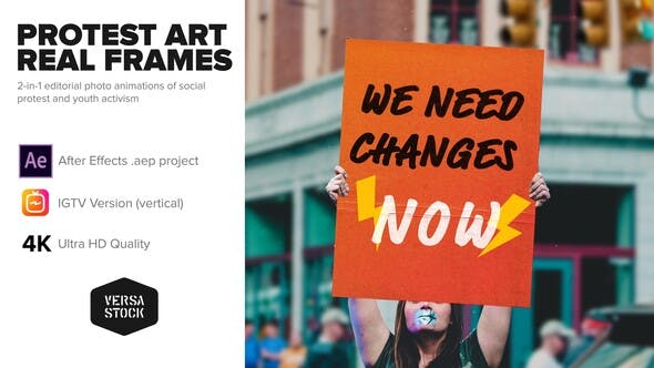 Videohive Protest Art Real Frames 26058272
