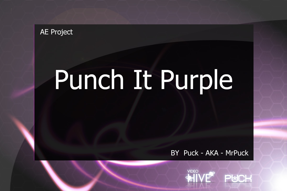 Videohive Punch It Purple 41142