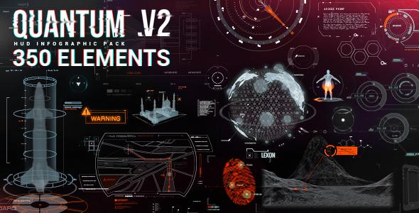 Videohive Quantum HUD Infographic 8678174