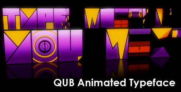 Videohive Qub Typeface Animated 2746740