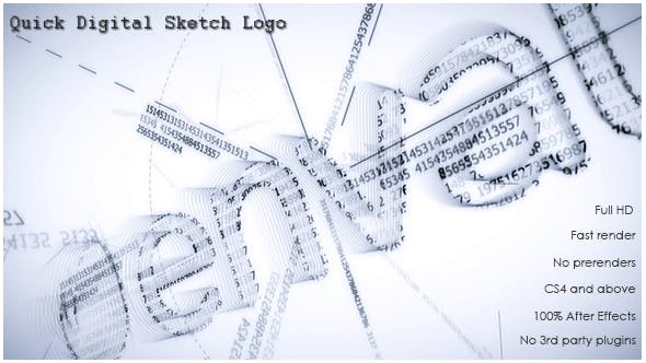 Videohive Quick Digital Sketch Logo 16080110
