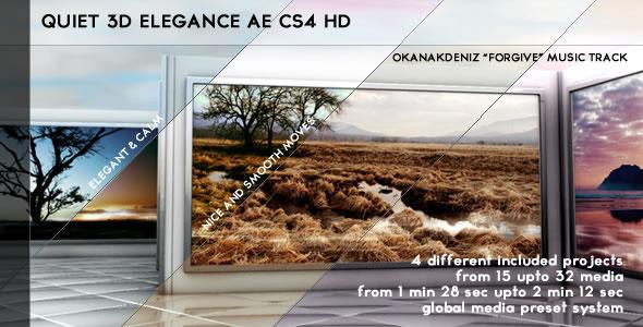 Videohive Quiet 3D Elegant Slideshow