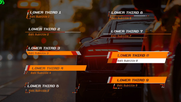 Videohive Racer Lower Thirds 20540605