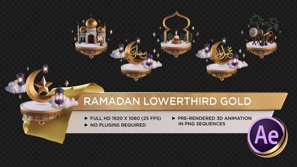 Videohive Ramadan Lower Third Gold 26675781