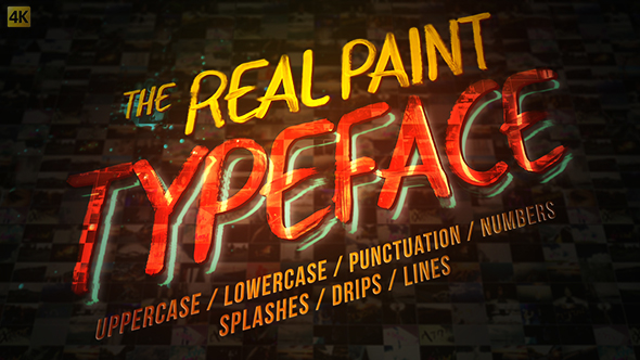 Videohive Real Paint Typeface Kit 19688638