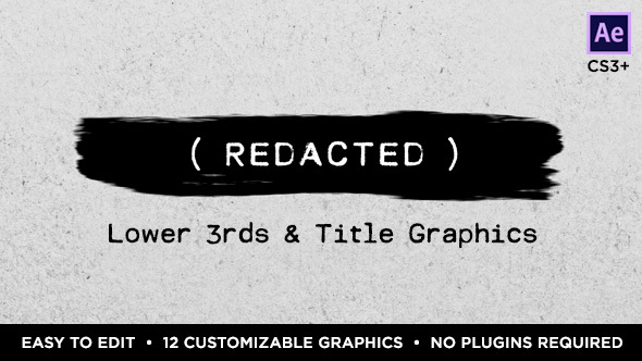 Videohive Redacted Titles and Lower Thirds 15374643