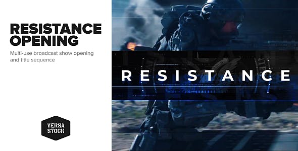 Videohive Resistance Show Opening Title Sequence 21475170