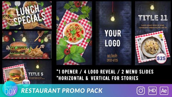 Videohive Restaurant Promo Pack 26788057