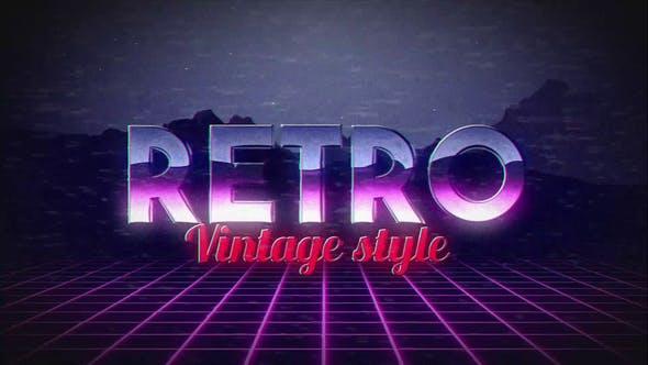 Videohive Retro Title 22084554