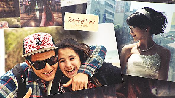 Videohive Roads of Love - Romantic Slideshow 17057671