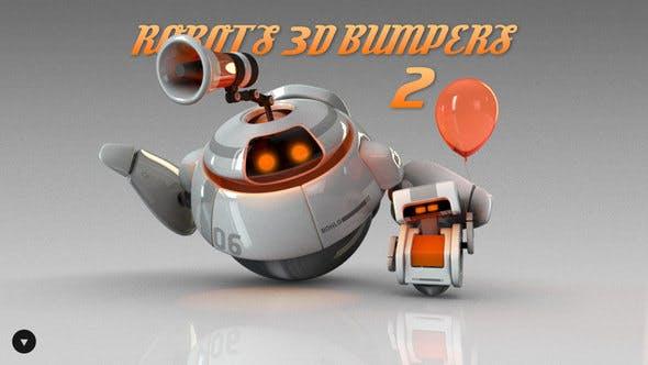 Videohive Robots 3D logo bumpers II 786701