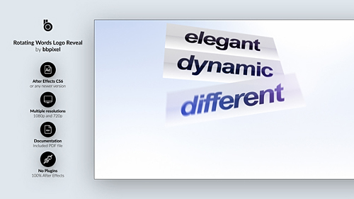 Videohive Rotating Words Logo Reveal 22679812