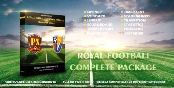 Videohive Royal Football Complete Package-Broadcast Design 17056913