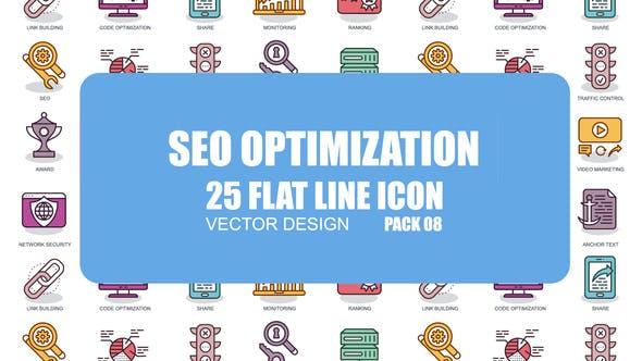 Videohive SEO Optimization - Flat Animation Icons 23370403
