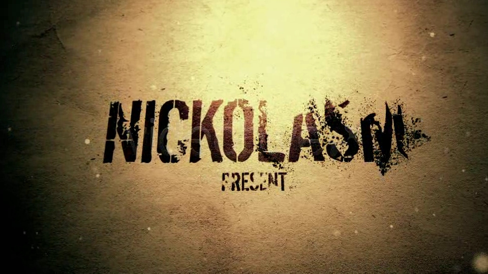 Videohive Sand text