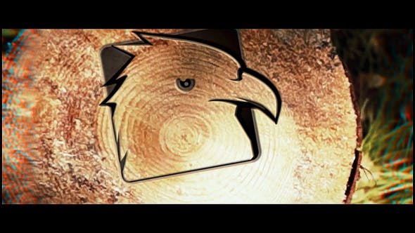 Videohive Saw Cut Tree Logo 23342078