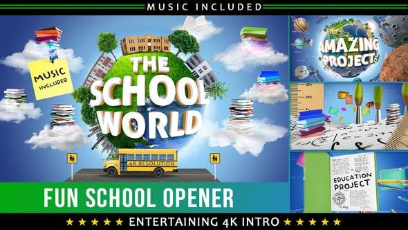 Videohive School Education Kids Intro 22606032