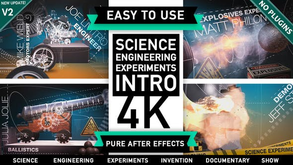 Videohive Science Engineering Mechanical Experiments Intro 14678718