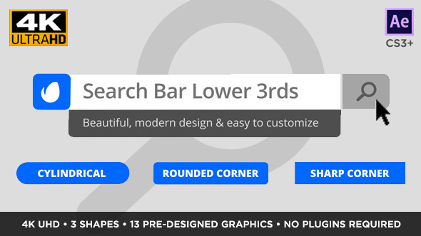 Videohive Search Bar Titles and Lower Thirds 15184157