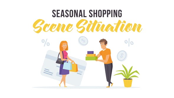 Videohive Seasonal shopping - Scene Situation 27597156