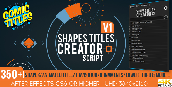 Videohive Shapes Titles Creator 20212580