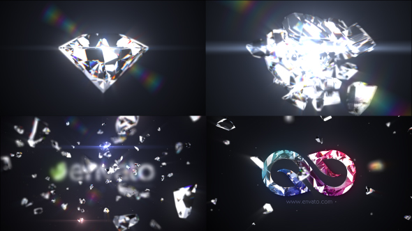 Videohive Shattered Diamond Logo Text Reveal 21059112
