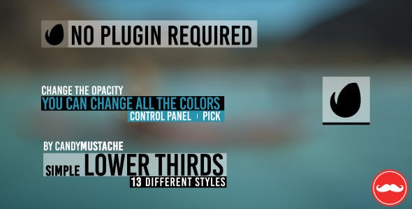 Videohive Simple Lower Thirds 11039745