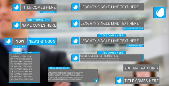 Videohive Simple Lower Thirds Pack 7576805