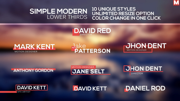 Videohive Simple Modern Lower Thirds 12420012