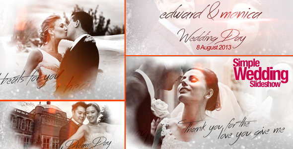 Videohive Simple Wedding Slideshow 7563314
