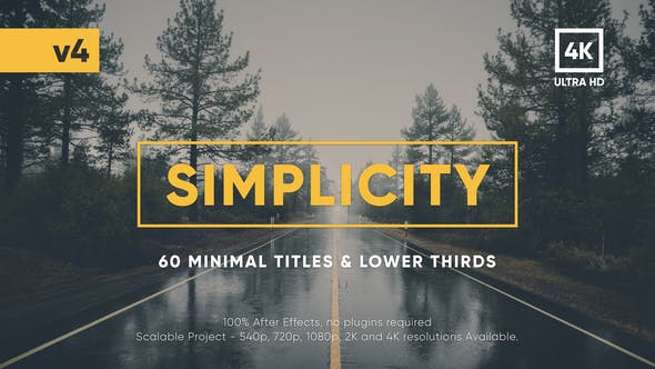 Videohive Simplicity Title Pack 17957957