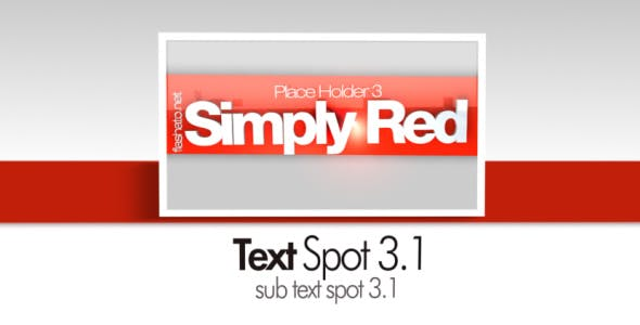 Videohive Simply Red CS4 99368