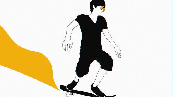 Videohive Skateboarder Logo Reveal 22502173