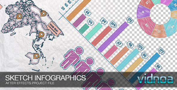 Videohive Sketch Infographics 7497806