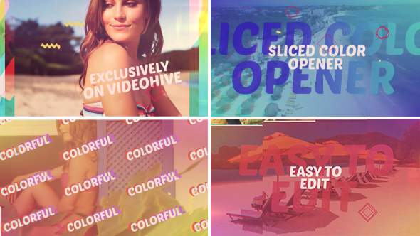 Videohive Sliced Color Opener 17526200