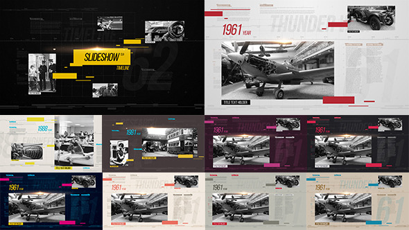 Videohive Slideshow Clean Timeline 13506798