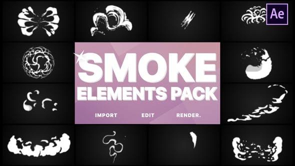 Videohive Smoke Elements 21516193