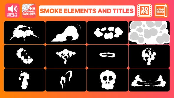 Videohive Smoke Elements And Titles 23188575