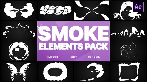 Videohive Smoke Elements Pack 23314666