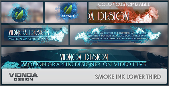 Videohive Smoke Ink Lower Thirds Pack 8057939