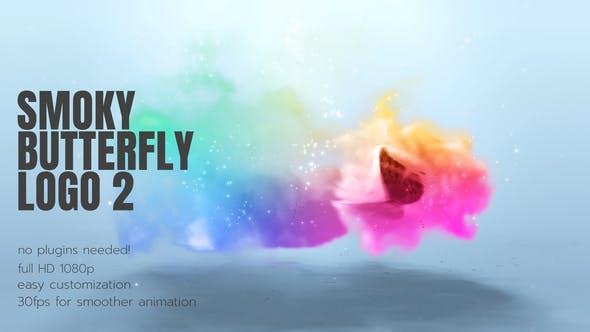 Videohive Smoky Butterflies Logo 26386252
