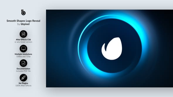 Videohive Smooth Shapes Logo Reveal 16181541