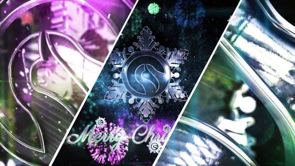 Videohive Snowflake Christmas Logo 22994939