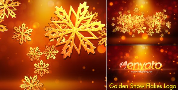 Videohive Snowflakes Logo 6122075
