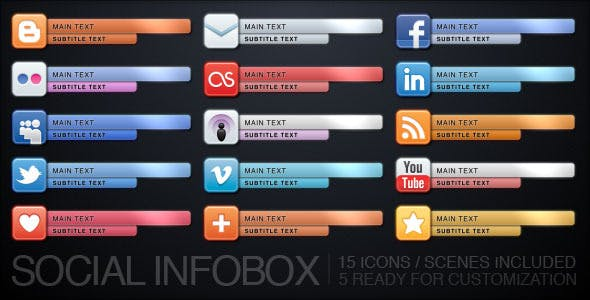 Videohive Social Infobox 677539