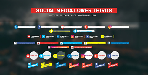 Videohive Social Lower Thirds 19892660