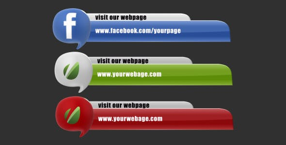 Videohive Social Media Baloons Lower Third Pack (Set of 29) 3235667