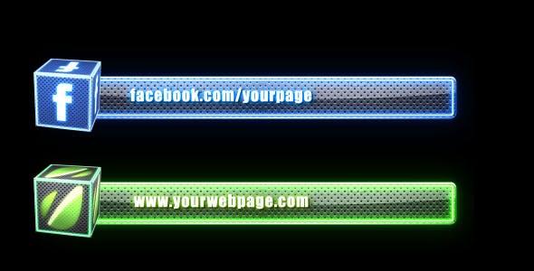 Videohive Social Media Lower Third Pack - 2 2452079