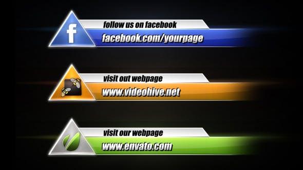 Videohive Social Media Lower Third Pack 4 4860845