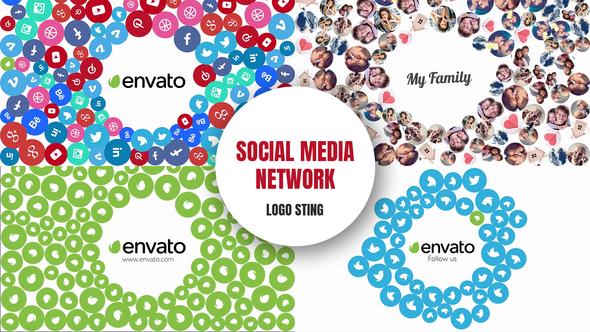 Videohive Social Media Network - Logo Sting 11527305